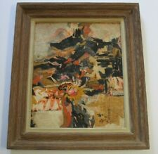 MID CENTURY ABSTRACT PAINTING EXPRESSIONISM NON OBJECTIVE CHINESE? JAPANESE?