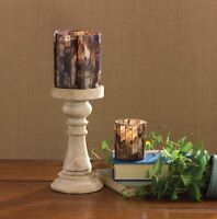 """Brown Mosaic Votive Holder 3"""" x 3.5"""" Candle Holder Rustic Cabin Home Decor (8)"""