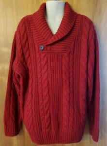 GYMBOREE boys RED Small 5 6 Sweater Cable Knit Christmas Holiday NWOT