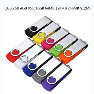 128G-64GB Swivel USB 2.0 Metal Flash Memory Stick Pen Drive Storage Thumb U Disk