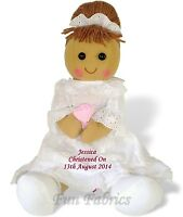 Personalised Christening Rag Doll Baptism First Holy Communion Dedication Gift