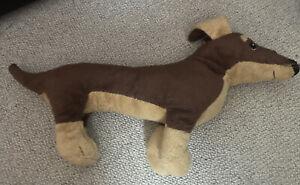 Ikea Smaslug Dachshund Sausage Dog Brown Soft Cuddly Stuffed Toy