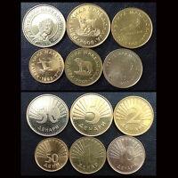 [M-1] Macedonia Set 6 Coins, 50 Deni +1+2+5+10+50 Denars, 1993-2008, UNC