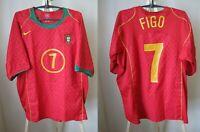 Portugal team #7 Figo 2004/2006 Home Size XL Nike football shirt jersey maillot