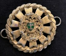 Antique Art Nouveau/ Art Deco With Green Enamel Pendant Or Memorial Charm