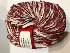Hollings Mill knitting and crochet chenille yarn 5 x 50g Brown / White