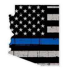 Arizona State (V5) Thin Blue Line Vinyl Decal Sticker Car Laptop Window Cop