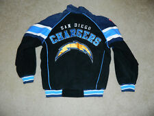 G-III APPAREL San Diego Chargers Varsity Suede Leather SEWN Jacket, Sz. M ~ MINT