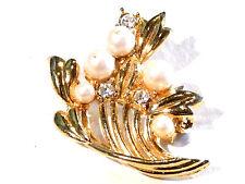 Bijou alliage doré  Broche intemporelle bouquet floral brooch