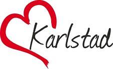 """Auto Aufkleber """" KARLSTAD """" Sticker Stadt Schweden ca.9x15cm konturgeschnitten"""