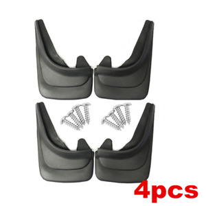 4pcs Front Rear Molded Mud Flaps Guards Splash Guards Universal For Car Truck