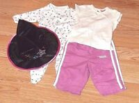 Bundle of 0-3 months Baby Girls clothes Halloween outfit trousers top babygrow