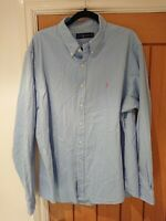 Ralph Lauren Light Blue Shirt Pink Logo XXL