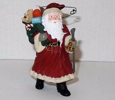 FREE SHIP '91 Hallmark Cards Merry Old Santa Claus Christmas Tree Ornaments Bell