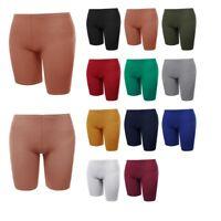 FashionOutfit Women's Solid Bike Yoga Shorts Cotton Spandex Stretch Boyshorts