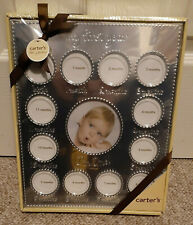 New ListingCarter's My First Year Baby Photo Frame Collage Silver New Sealed Gift Box