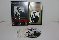 Max Payne (Sony PlayStation PS2, 2001) COMPLETE CIB W Manual Black Label