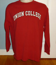 Union College Schenectady NY Red Men's Long Sleeve Shirt Large L