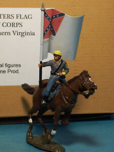 Toy Soldiers-American Civil War-ACW-Confederate Cavalry-Rebel Horse-JEB Stuart