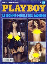 * Playboy Collezione 1998 N°31 * LE DONNE PIU' BELLE DEL MONDO *
