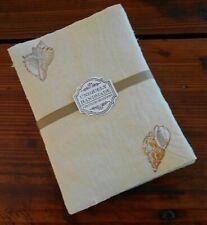 Handmade Paper Sheets - 14 sheets - Shell Motif - Free Shipping (870)