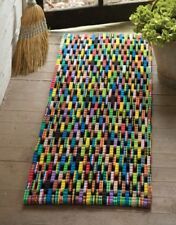 Door Mat Floor Mat Entryway Recycled Flip Flop Rubber Large Rectangle 48 Inches