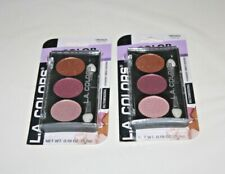 L.A. Colors 3 Color Eyeshadow Trio Cbes625 Water Lily Lot Of 2
