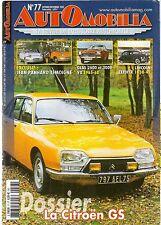 AUTOMOBILIA 77 CITROEN GS PANHARD GLAS 2600 & 3000 V8 65 68 LINCOLN ZEPHYR38 42