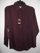 HAGGAR - MEN - DRESS SHIRT - WINE - SIZE SMALL  (AC-26-219)