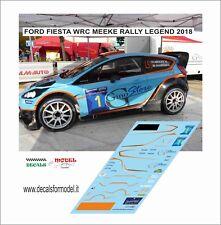 DECALS 1/43 FORD FIESTA WRC MEEKE RALLY LEGEND 2018