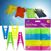 STORM PEGS  EXTRA STRONG GRIP CLOTHES HEAVY DUTY WIND RESISTANT WASHING LAUNDRY