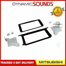 CT23MT18 Car Stereo Double Din Fascia Panel Grey for Mitsubishi ASX 2010-2013