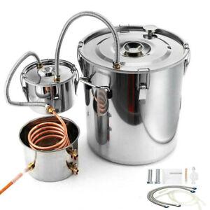 3 / 5 Gal Moonshine Still Spirits Kit Water Distiller Boiler Brewing Thumper Keg
