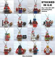 Christmas Minifigure Pendant Star Wars Marvel Xmas Grinch Jewellery Mini Figure