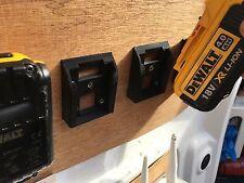 2x BATTERIA Stealth Montature per Dewalt XR Li-ion Batterie stoccaggio trasporto duro