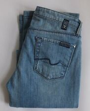 Women's 7 FOR ALL MANKIND W211-D12-SYM Straight Stretch Jeans UK 6 Size 24 L34