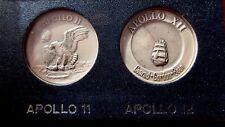 NIB RARE APOLLO 11 APOLLO 12  PEWTER COIN SET AMERICAN MINT COMMEMORATIVE MEDALS