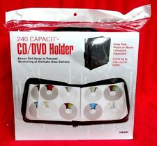 240 Disc CD DVD Nylon Storage Case Wallet Album CD Holder Cases in Black