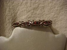 Hair clip / slide hand beaded shades of pink