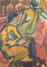 1960'S GOUACHE PAINTING EXPRESSIONISM NUDE FIGURES