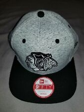 NHL CHICAGO BLACKHAWKS NEW ERA 9 FIFTY 950 TEAM ROGUE SNAPBACK GREY HAT 80326604
