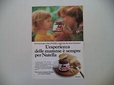 advertising Pubblicità 1977 NUTELLA FERRERO
