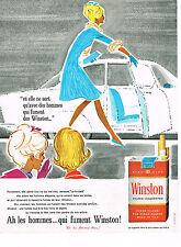 PUBLICITE ADVERTISING 014   1963   WINSTON   cigarettes