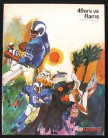 1967 49ers vs RAMS Football Game Program Kesar Stadium San Francisco