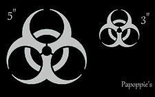 Stencil Bio Hazard Zombie Symbol Halloween Caution Shape Stencil
