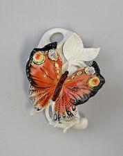 Porzellan Wandvase Schmetterling rot Ens H16cm 9941286