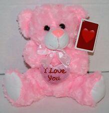 "Best Made Toys TEDDY BEAR 7"" Pink Valentine Heart Plush Stuffed New Walmart"