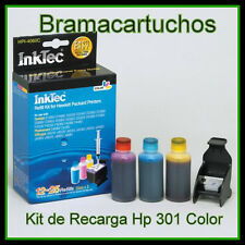 KIT DE RECARGA HP 301 , 301XL 12-25 recargas Hp 301 (CH562EE) 301XL (C6656A)