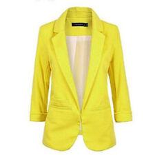 Fashion Casual Slim Solid Suit Blazer Coat Jacket Outwear Women Candy Color