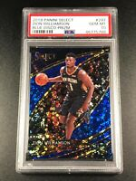 ZION WILLIAMSON 2019 PANINI SELECT #297 BLUE DISCO PRIZM ROOKIE RC /25 PSA 10